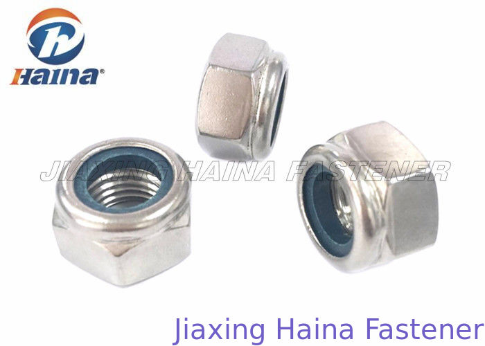 Nylon Lock Hex Head Nuts Stainless Steel Corrosion Resistance For Industrial Fields