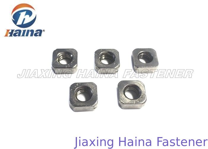 Square Hex Head Stainless Steel Nuts Thin Zinc Plated Customized Anti Corrosion